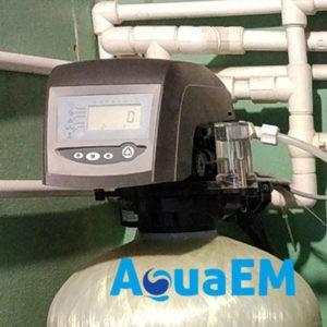 Установка умягчения воды непрерывного действия с клапанами управления