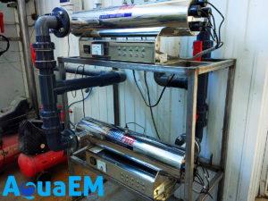 Ультрафиолетовая установка обеззараживания воды входящая в комплекс водоподготовки пивзавода